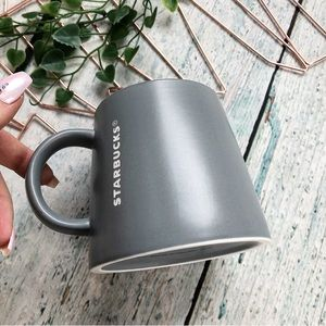 Starbucks 2013 coffee mug grey large 16oz ceramic